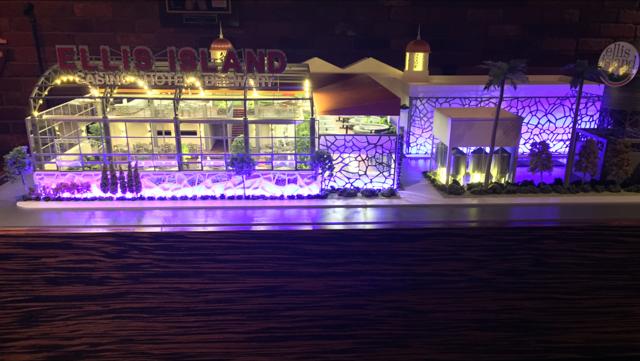Ellis Island Casino - violet lighting