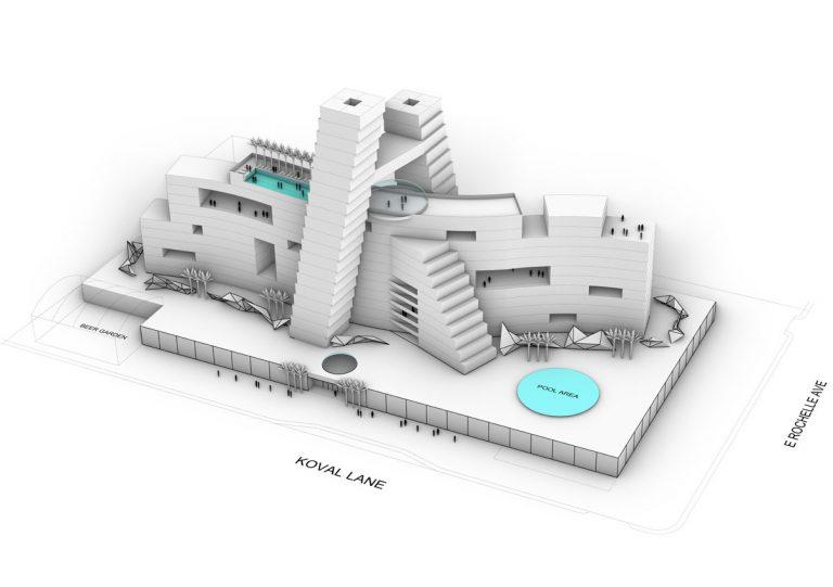 Ellis Island Casino 3d rendering