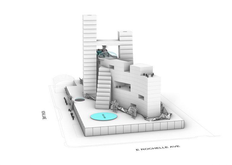 Ellis Island Casino - 3d rendering front