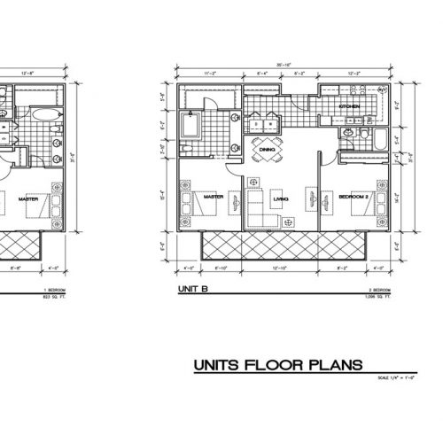 Units Floor Plan - Unit A